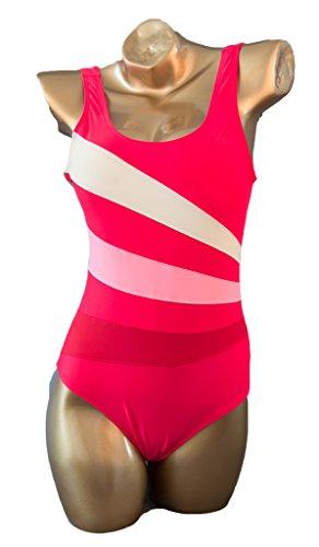 Fortuning's JDS Las mujeres traje de deporte de la natación del traje de baño de una sola pieza traje de baño de la formación costuras planas rojo