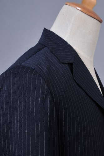 Who Is Doctor Dr.dark Blue Pinstripe Suit Blazer Pants