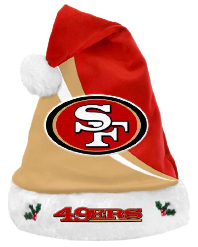San Francisco 49ers Swoop Logo Santa Hat -
