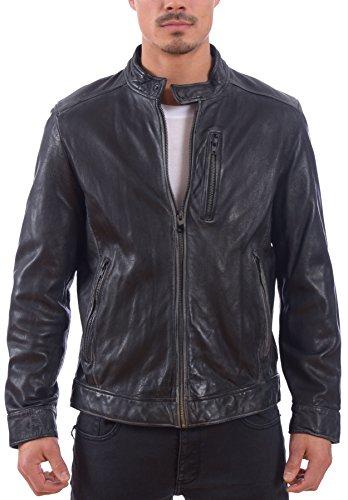 Buy dress leather jacket mens - 3