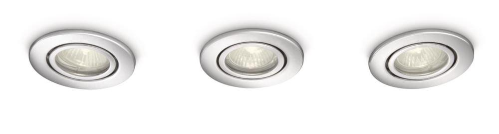 Philips MyBathroom Roots Bathroom Recessed Spotlight Chrome (Includes 3 x 35 Watts GU10 Bulb) [Energy Class D] 915000944702