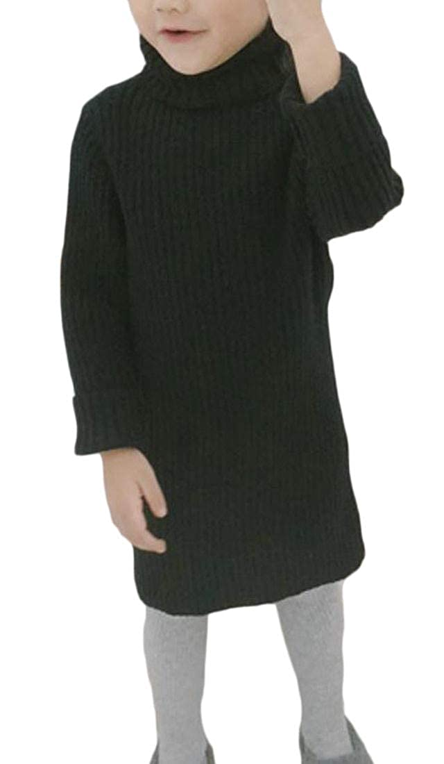 Sweatwater Girl Knitwear Turtle Neck Fall Winter Jumper Pullover Solid Color Sweater