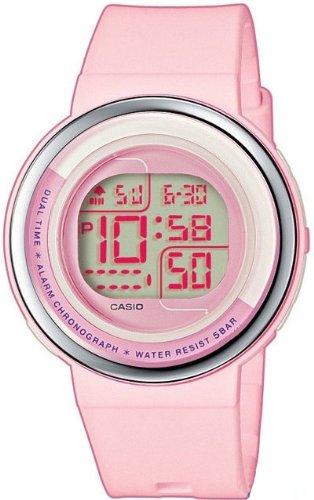 CASIO LDF304AEF - Reloj de mujer de cuarzo, correa de plástico color rosa: Amazon.es: Relojes