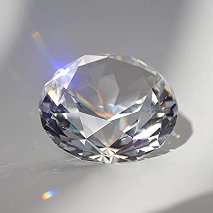 SHINY HANDLES 6Pcs 40MM Clear Crystal Diamond Paperweight Birthstone Table Decorations 1.57 inch