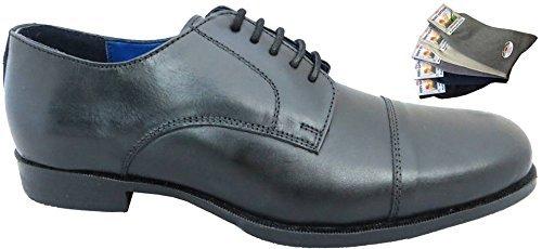 RTB , Chaussures de ville à lacets pour homme Noir noir
