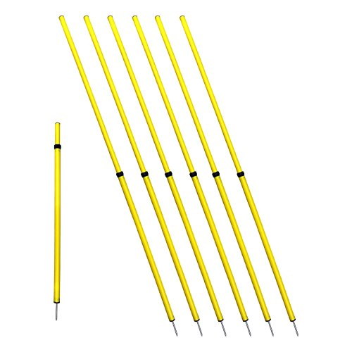 Bluedot Trading Soccer Agility Training Poles, Adjustable Telescopic, 3ft-6ft (4pc)