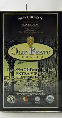 Olio Beato Extra Virgin 100% Organic Extra Virgin Olive Oil 2013, 3L tin