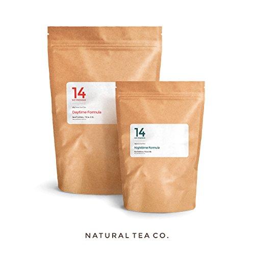 Peso pérdida té - 14 días de desintoxicación y limpieza programa de pérdida de peso. Té de pérdida de peso herbaria natural 100%. Fórmula de Teatox que contiene la raíz de regaliz, manzanilla y té verde. Suplemento quemador de grasa y supresor del apetito