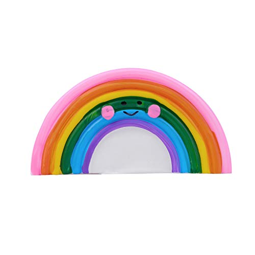 Fan-Ling Creative Silicone Rainbow Night Light,Battery Powered Lights Kids Bedroom Decor,Portable Mini Size,Perfect decorative light for kid's room, bedroom (Difference Between Light And Dark Corn Syrup)