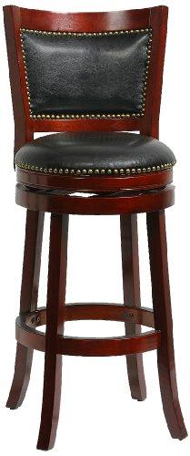 Office Birch Furniture (Boraam 42929 Bristol Bar Height Swivel Stool, 29-Inch, Cherry)