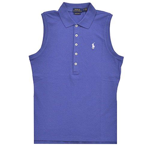 Polo Ralph Lauren Womens Polo Sleeveless Stretch Mesh (XS, Blue)