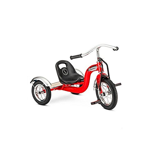 New 12'' Red Retro Tricycle Schwinn Roadster Kids Trike Vintage by Children's Tricycles