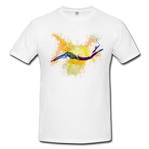 Schwimmen II Herren T-Shirt Sport Motiv aus Paul Sinus Aquarell
