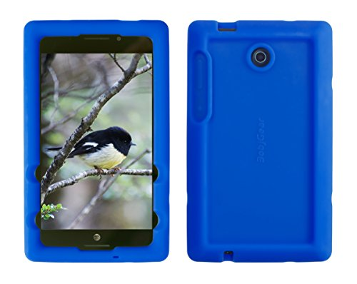 - Bobj Rugged Case for ASUS K00X, MeMO Pad 7 LTE ME375CL – BobjGear Custom Fit - Patented Venting - Sound Amplification - BobjBounces Kid Friendly (Batfish Blue)