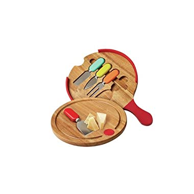 Fiesta 5 Piece Cheese Tool and Board Set