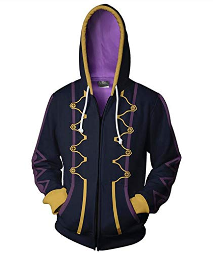 Jonikow Unisex Adults 3D Printed Hoodie Fire Robin Cosplay Costume Hooded Sweatshirt Jacket (L, 1) (Fire Emblem Hoodie)