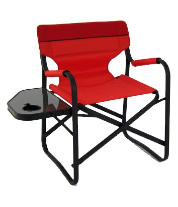 Designeru0027s Aluminum Folding Deck Chair W/ Side Table ...