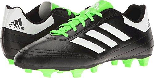 adidas Men's Goletto VI FG Soccer Shoe, Black/White/Solar Gr