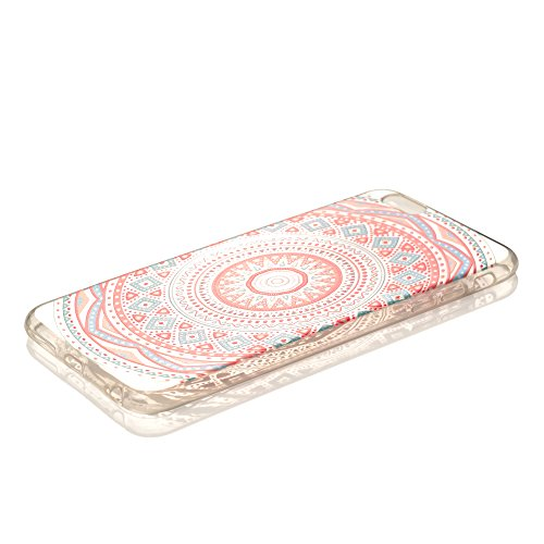 "iProtect TPU Schutzhülle Apple iPhone 6 Plus, 6s Plus (5,5"") Soft Case - flexible Hülle im transparent Kaleidoskop Effekt - rosa"