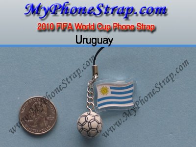 2010 FIFA World Cup Phone Strap -- Uruguay Soccer Football Team (Japan Imported) ()