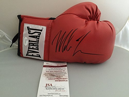 0c8d81d205f Autographed Signed Mike Tyson Red Everlast Boxing Glove JSA COA ...