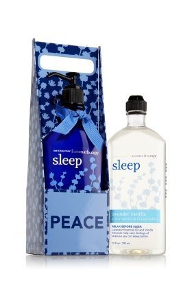 Bath and Body Works Aromatherapy Village Carrier Sleep - Lavender Vanilla Body Lotion and Body Wash Foam Gift Set