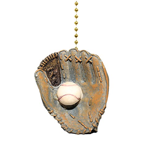 World Series Baseball Glove Ball Ceiling Fan and Light Pull