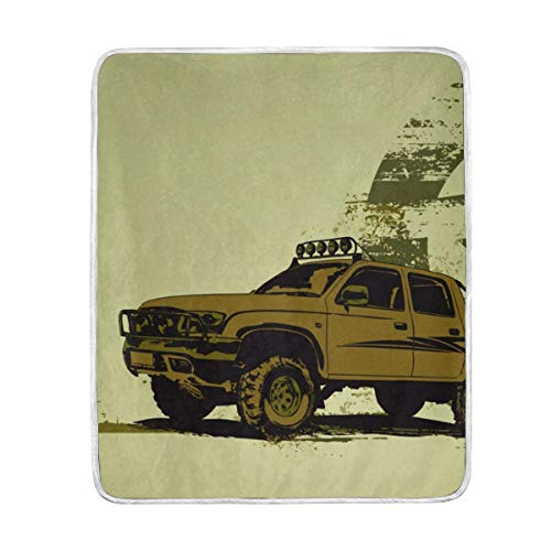 Frezi-z Soft Throw Blanket Military Vehicle Blankets for