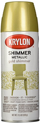 Glittery Shimmer - Krylon Shimmer Metallic Spray Paint Gold Shimmer, 11.5-Ounce