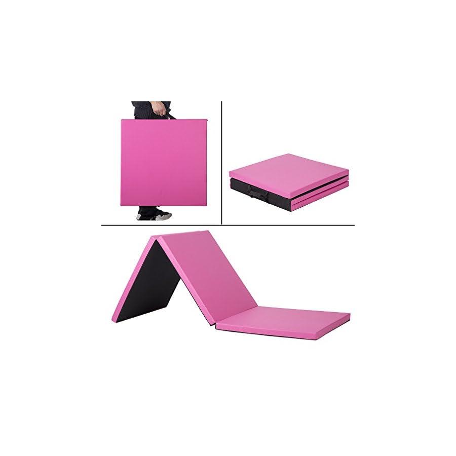 PayLessHere 2'x6'x2 Thick Folding Panel Gymnastics Mat Gym Fitness Exercise Mat