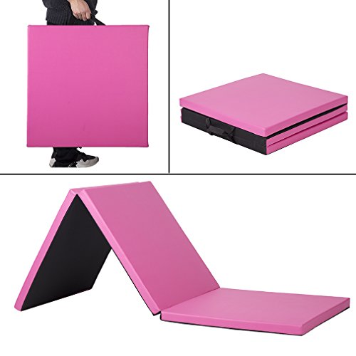 "2'x6'x2"" Thick Folding Panel Gymnastics Mat Gym Fitness Exercise Mat"