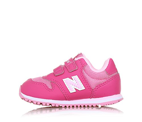 NEW BALANCE - Zapatilla deportiva 500 infant fucsia y rosa, de tejido sintético y microfibra, con cierre de velcro, logo lateral trasero, Niña, Niñas fucsia/rosa