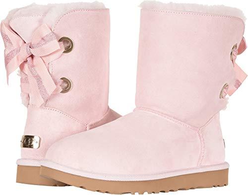 UGG Women's W Customizable Bailey Bow Mini Fashion Boot, Seashell Pink, 8 M US