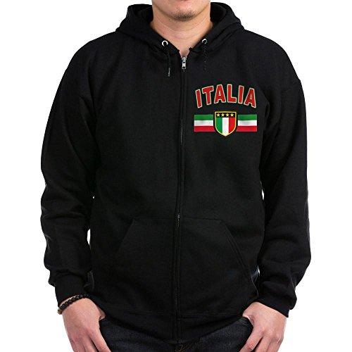 CafePress - Italian Pride Zip Hoodie (Dark) - Zip Hoodie, Classic Hooded Sweatshirt with Metal Zipper (Italian Zip Hoodie)