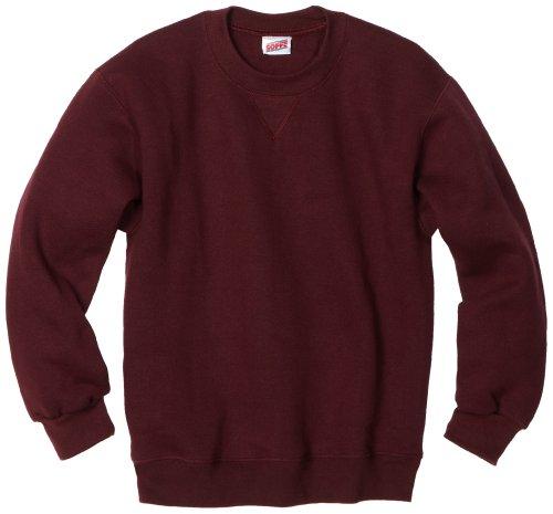 MJ Soffe Big Boys' Crew Sweatshirt, Maroon, Small