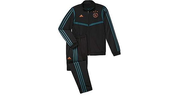 adidas AJAX PES Suit Y Chándal, Unisex niños, Negro/Vertec, 128 ...