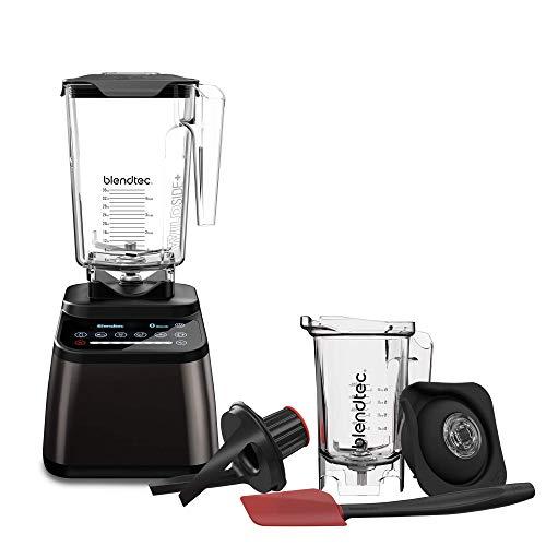 - Blendtec Designer 725 Blender - WildSide+ Jar (90 oz)  and Twister Jar (37 oz) BUNDLE - Professional-Grade Power - Self-Cleaning - 6 Pre-Programmed Cycles - 100-Speeds - Gunmetal/Black