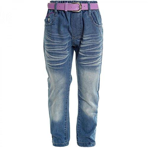 Kinder Mädchen Jeans Hose Röhre Straight Fit Skinny Stretch 20537, Farbe:Blau;Größe:140