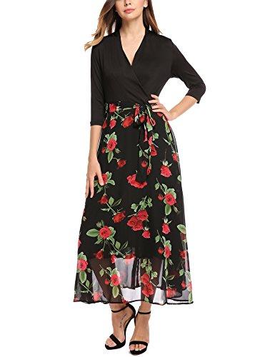 Buy belted chiffon print dress - 8