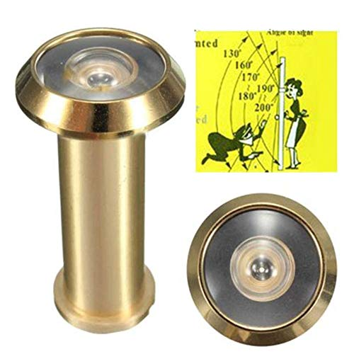 Adjustable Home Security 180 Degree Wide Angle Door Viewer Brass Sight Peephole For Home - Door Ives Knocker