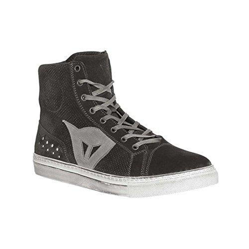 Dainese Street Biker Air Chaussures Pour Hommes Dark Carbon / Red 44 Euro / 11 Usa Black / Anthracite
