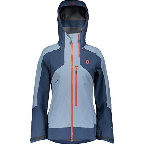 Scott Vertic GTX 3L Hooded Jacket - Women's Denim Blue/Blue Haze, US M/EU -