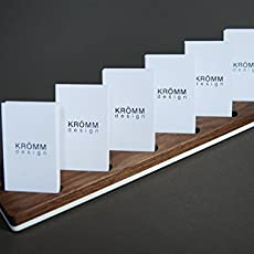 Amazon multiple business card holder for desk wood business multiple vertical moo business card wood stand wood display for vertical business colourmoves Image collections