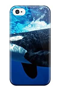 Flexible Tpu Back Case Cover For Iphone 4/4s - Whale Animal