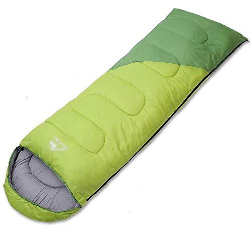 QINJLI Im freien Erwachsenen Baumwoll Schlafsack kann gespleißt Umschlag Typ Vier Jahreszeiten allgemeine Schlafsack schmutzig Reise Mittagessen Leichtbekleidet Tasche