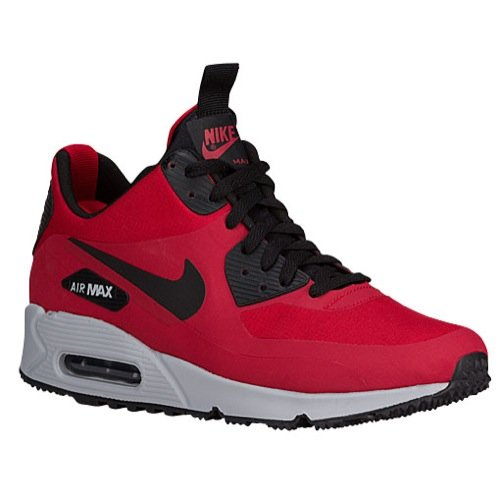 Nike Men's Air Max 90 Mid WNTR, GYM RED/BLACK-WOLF GREY, 12 M US (90 Infrared Air Max)