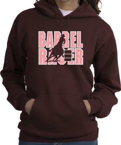 Barrel Racer Horse & Rider Brown Hoodie (Best Barrel Racer In The World)