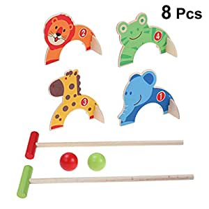 STOBOK Mini Juego de Juguetes de Croquet para niños Juego de ...