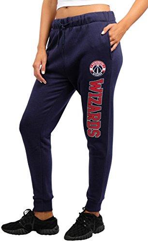 fan products of NBA Women's Washington Wizards Jogger Pants Active Basic Fleece Sweatpants, Medium, Blue