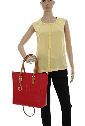 Trussardi Jeans 75b00001-1y090125, Borsa a Spalla Donna, 41x32x16 cm (W x H x L) Rosso